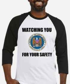 Watching You For Your Safety Baseball Jersey