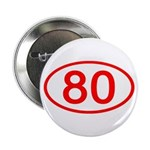 Number 80 Oval Button