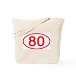 Number 80 Oval Tote Bag