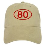 Number 80 Oval Cap