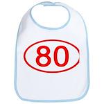 Number 80 Oval Bib