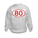 Number 80 Oval Kids Sweatshirt