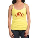 Number 80 Oval Jr. Spaghetti Tank
