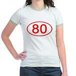 Number 80 Oval Jr. Ringer T-Shirt