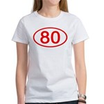 Number 80 Oval Women's T-Shirt