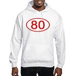 Number 80 Oval Hooded Sweatshirt
