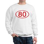 Number 80 Oval Sweatshirt
