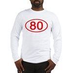 Number 80 Oval Long Sleeve T-Shirt