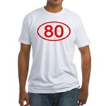 Number 80 Oval Fitted T-Shirt