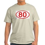 Number 80 Oval Ash Grey T-Shirt