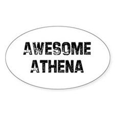 Awesome Athena Oval Decal