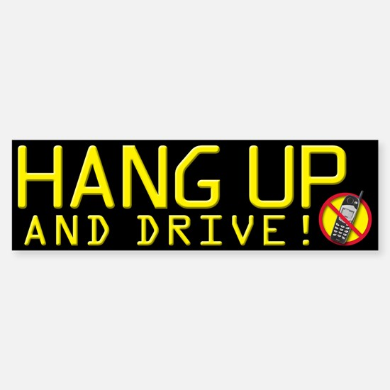 Hang Up and Drive! Bumper Car Car Sticker
