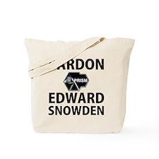 Pardon Edward Snowden Tote Bag