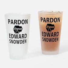 Pardon Edward Snowden Drinking Glass