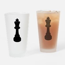 Black King Chess Piece Drinking Glass