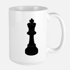 Black King Chess Piece Mug