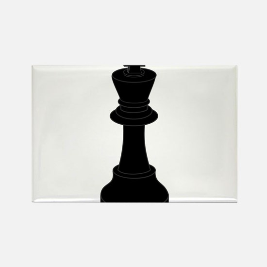 Black King Chess Piece Rectangle Magnet