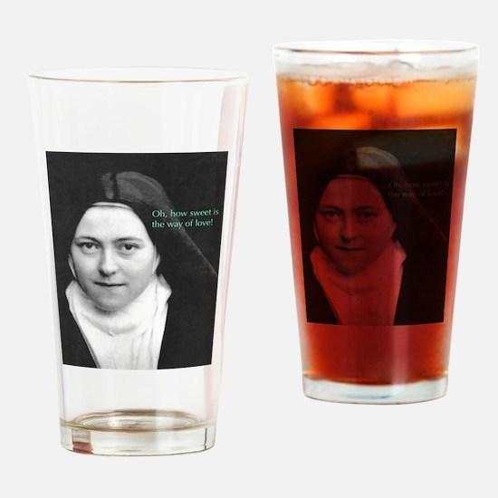 Saint Theresa of the Little Flower Drinking Glass