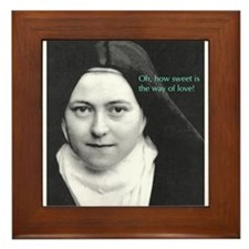 Saint Theresa of the Little Flower Framed Tile