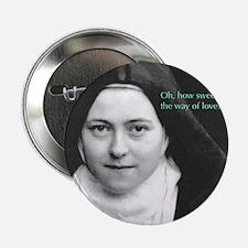 "Saint Theresa of the Little Flower 2.25"" Button"