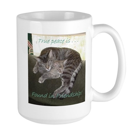 Peace in Friendship Large Mug