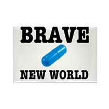 Brave New World Rectangle Magnet