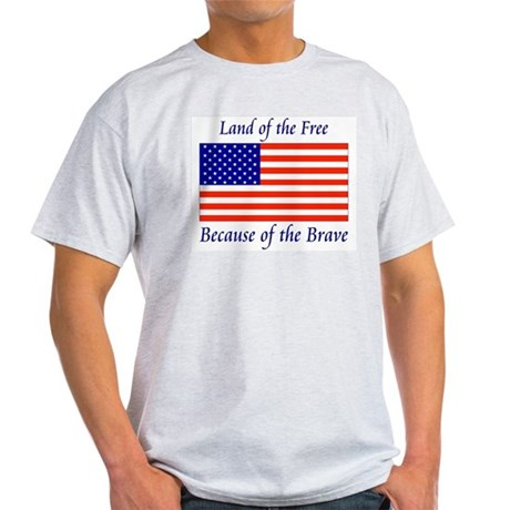 Land of the Free Ash Grey T-Shirt
