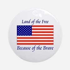 Land of the Free Ornament (Round)