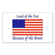Land of the Free Rectangle Decal