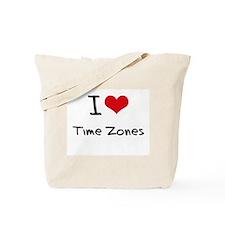 I love Time Zones Tote Bag