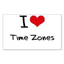 I love Time Zones Decal