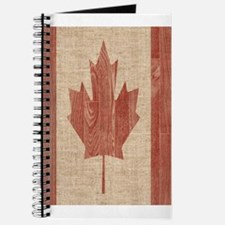 Canadian Flag Wood Print Twin Duvet Cover Journal