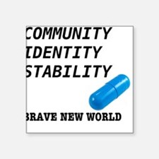 brave new world - community identity stability essay In aldous huxley's satire the world state's motto is community, identity, and stability those few who do not fit into the community of the brave new world are.