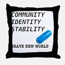 Community, Identity, Stability Throw Pillow