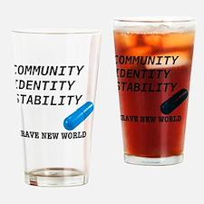 Community, Identity, Stability Drinking Glass