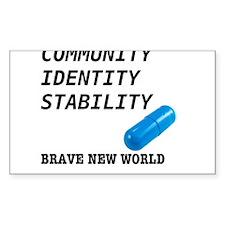 Community, Identity, Stability Decal