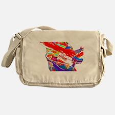 Guitar psychadelic design Messenger Bag