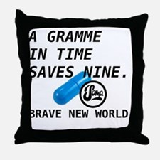 Brave New World - Gramme in Time Throw Pillow