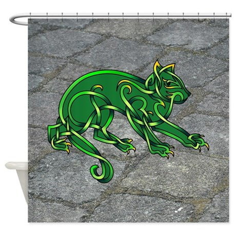 St. Pats Cat Shower Curtain