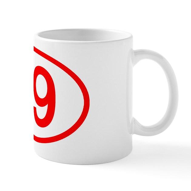 Number 69 Oval Mug by ovalsboutique