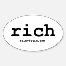 """rich"" Oval Decal"