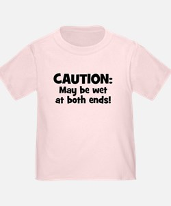 Funny Baby Caution T-Shirt