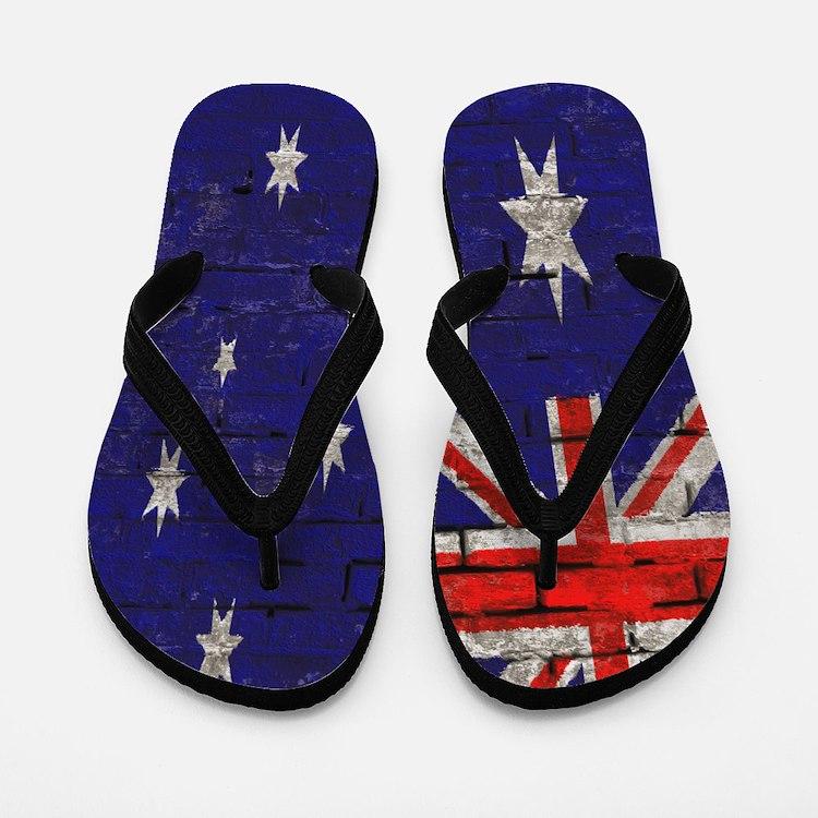 Australian Flag Twin Duvet cover Flip Flops