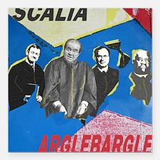 "Argle Bargle Square Car Magnet 3"" x 3"""