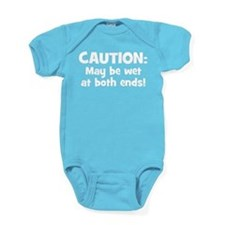Funny Baby Caution Baby Bodysuit