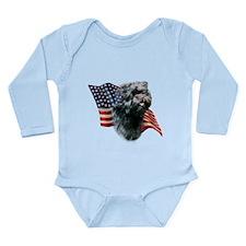 AffenpinscherFlag.png Long Sleeve Infant Bodysuit