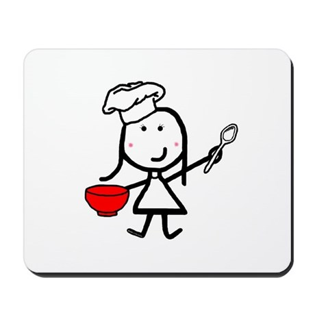 Girl & Chef Mousepad