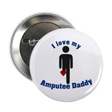 """I Love my Daddy Amputee 2.25"""" Button"""
