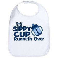 My Sippy Cup Runneth Over Bib