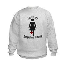 I Love my Amputee Honey Sweatshirt